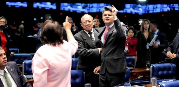 """Senado tem bate-boca após crítica à PEC: """"coveiros da cidadania""""  - Pedro França/Agência Senado"""