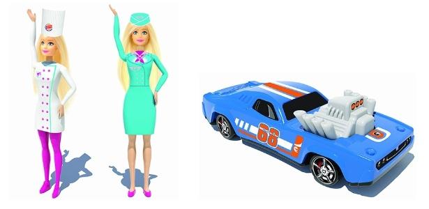 Bonecas Barbie e carrinhos Hot Wheels vêm como brinde do combo King Jr