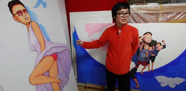 Song Byeok fazia cartazes de propaganda para o regime norte-coreano, até que a fome atingiu sua região