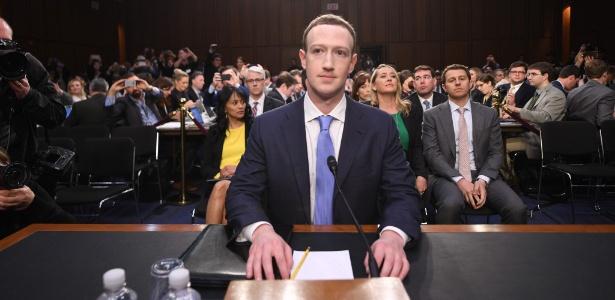 Mark Zuckerberg durante audiência no congresso dos Estados Unidos