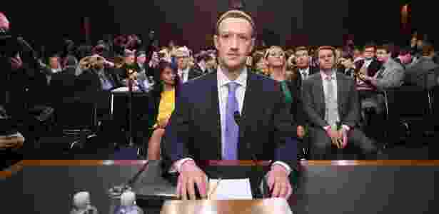 Mark Zuckerberg durante audiência no congresso dos Estados Unidos - Jim Watson/AFP