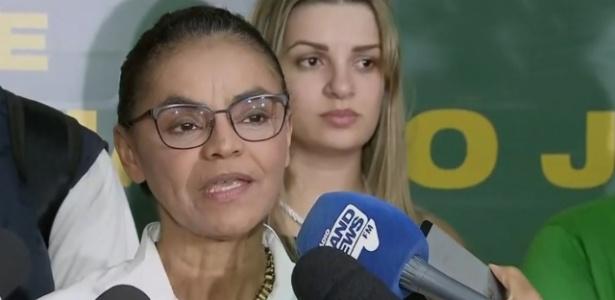 Marina Silva (Rede) se pronuncia após não ir ao segundo turno da eleição presidencial