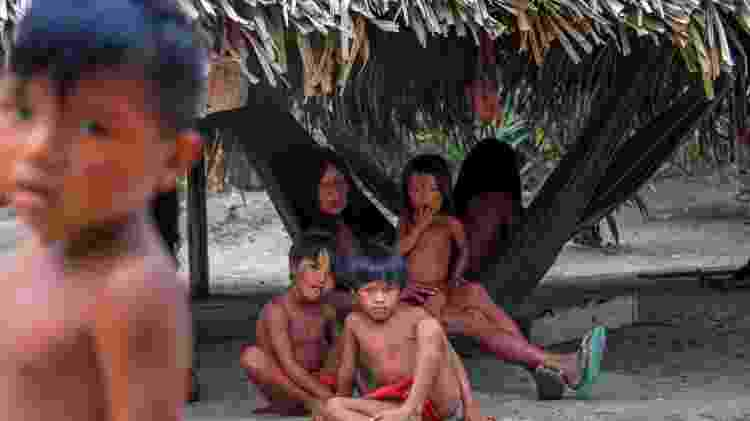 Etnia waiãpi em terra indígena no Amapá - Apu Gomes/AFP