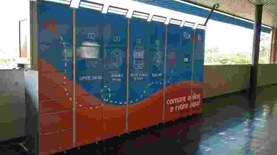 Armários inteligentes da Pickbox instalados no Terminal Sacomã, em São Paulo - Divulgação