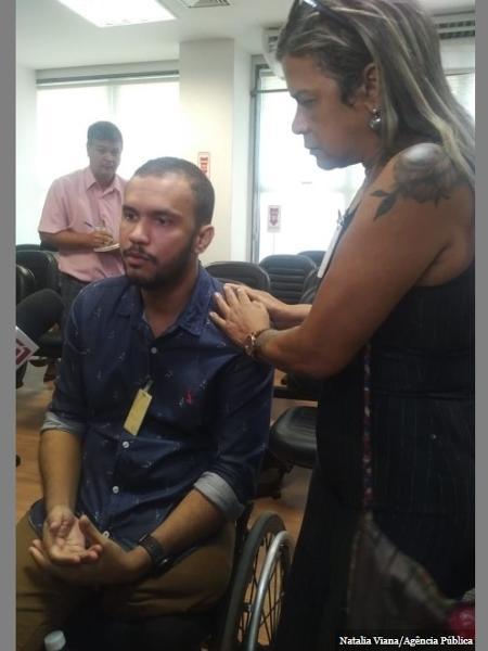 """19.fev.2020 - """"O que tem de imaginário na minha vida hoje"""", questiona Vitor Santiago, que ficou paraplégico após ser atingido por dois tiros de fuzil disparados por militar - Natalia Viana/Agência Pública"""