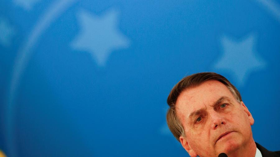 Presidente Jair Bolsonaro no Palácio do Planalto - Reuters