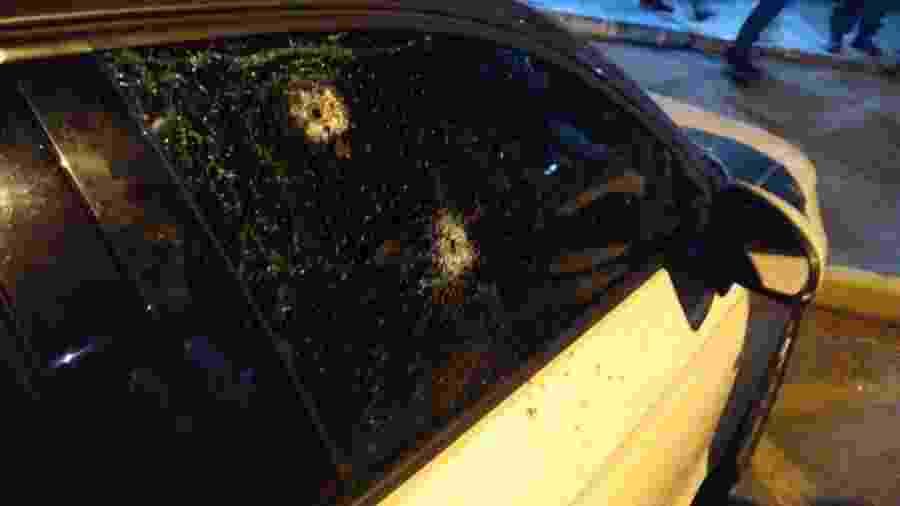Carro do delegado-geral da Polícia Civil de São Paulo foi alvo de uma tentativa de assalto - Reprodução