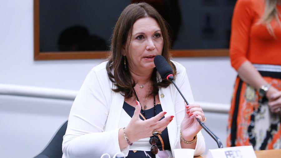 A deputada federal Bia Kicis (PSL-DF).  - Michel Jesus/Câmara dos Deputados