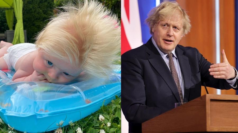 Bebê de três meses foi comparado com o Primeiro-Ministro Boris Johnson - Reprodução/Instagram
