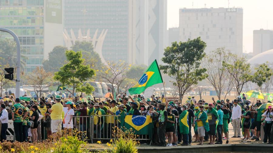 8.set.2021 - Bolsonaristas se encontram em Brasília (DF) e protestam contra os ministros do STF - WALLACE MARTINS/FUTURA PRESS/ESTADÃO CONTEÚDO