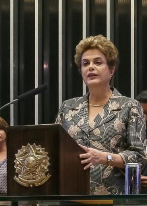 A presidente Dilma Rousseff durante abertura do ano legislativo no Congresso Nacional