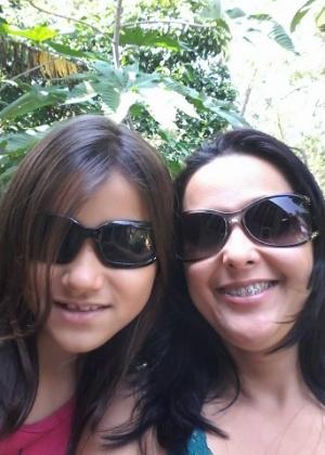 Kaylany e sua mãe