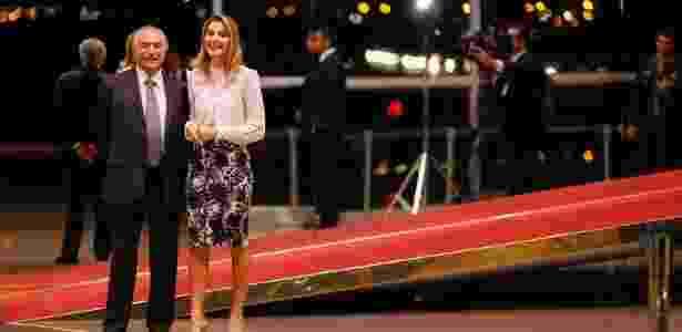 9.out.2016 - Temer e a mulher, Marcela, recebem aliados para jantar no Palácio - Beto Barata/PR