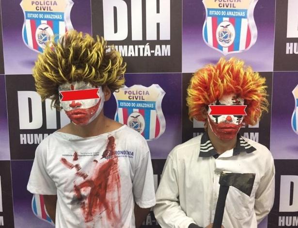 Os dois adolescentes de Humaitá foram detidos pela Polícia Civil após assustarem moradores da cidade amazonense