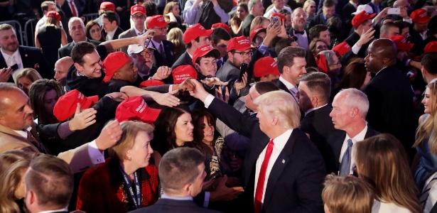 O republicano Donald Trump foi eleito o 45º presidente da história dos EUA