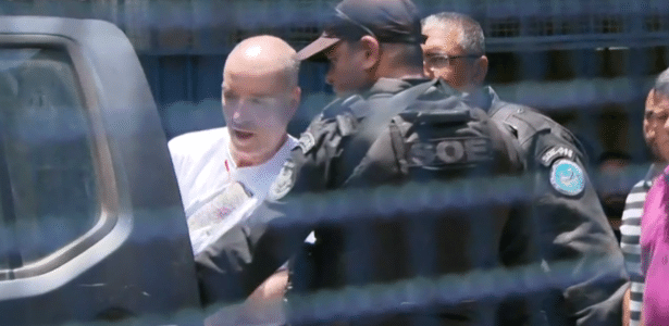 30.jan.2017 - Eike Batista teve a cabeça raspada ao ser preso