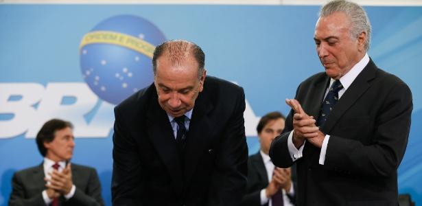 07.mar.2017 - O senador Aloysio Nunes (PSDB-SP) toma posse como ministro das Relações Exteriores