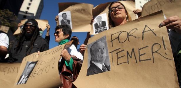 Arquivamento da denúncia contra Michel Temer (PMDB) é uma das principais críticas de protesto