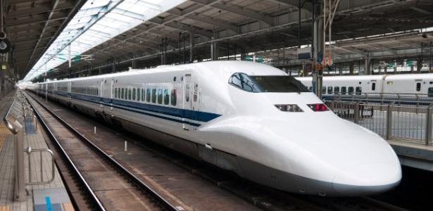 Imagem de arquivo mostra um trem-bala na estação Shin-Osaka, em Osaka, no Japão - Getty Images