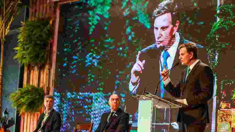 12.jun.2018 - O prefeito do Rio, Marcelo Crivella (PRB), durante evento da prefeitura - Marcelo Regua/Agência O Globo