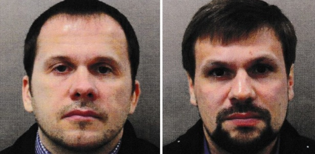 Alexander Petrov e Ruslan Boshirov são suspeitos de ter usado o agente nervoso Novichok para envenenar ex-espião e a filha - Met Police