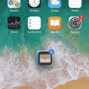 Agrupamento de apps no iPhone - Reprodução