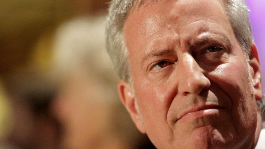 Prefeito de Nova York, Bill de Blasio, anunciou evento comemorativo  - Yana Paskova/Getty Images/AFP