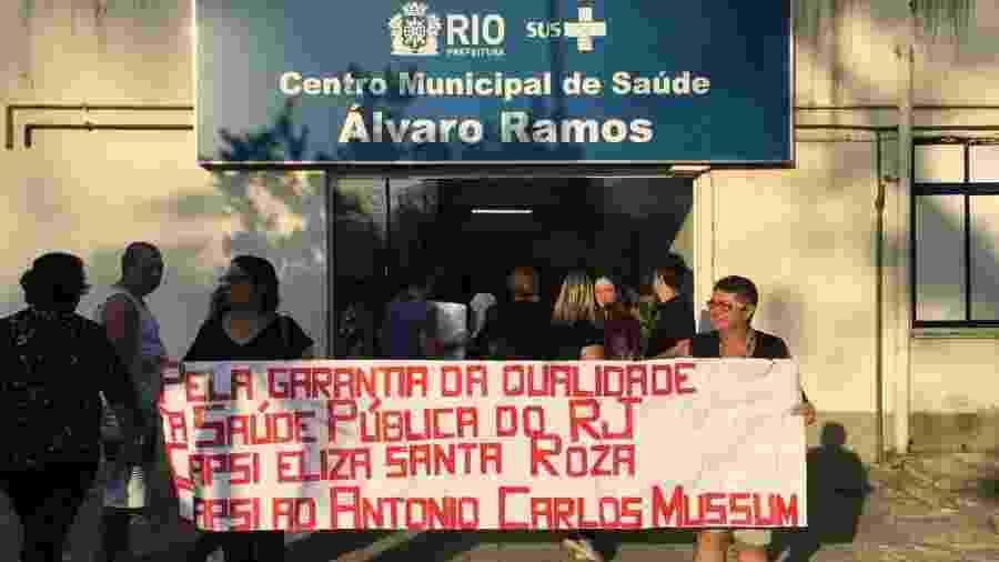 Manifestação de pacientes nesta semana por melhores condições em unidades da rede pública de saúde mental no Rio - Reprodução