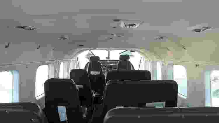 Interior do Cessna Grand Caravan, com capacidade para até nove passageiros - Divulgação/Twoflex - Divulgação/Twoflex