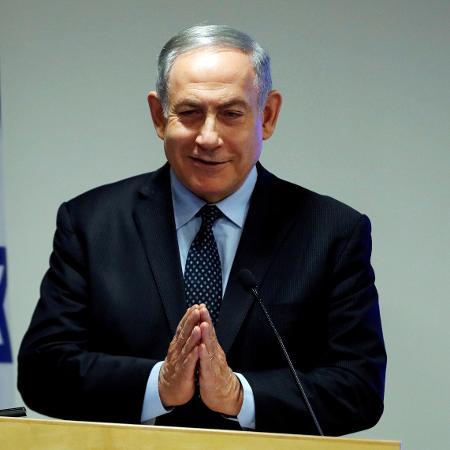 Primeiro-ministro de Israel, Benjamin Netanyahu, em pronunciamento sobre coronavírus - Ammar Awad/File Photo/Reuters