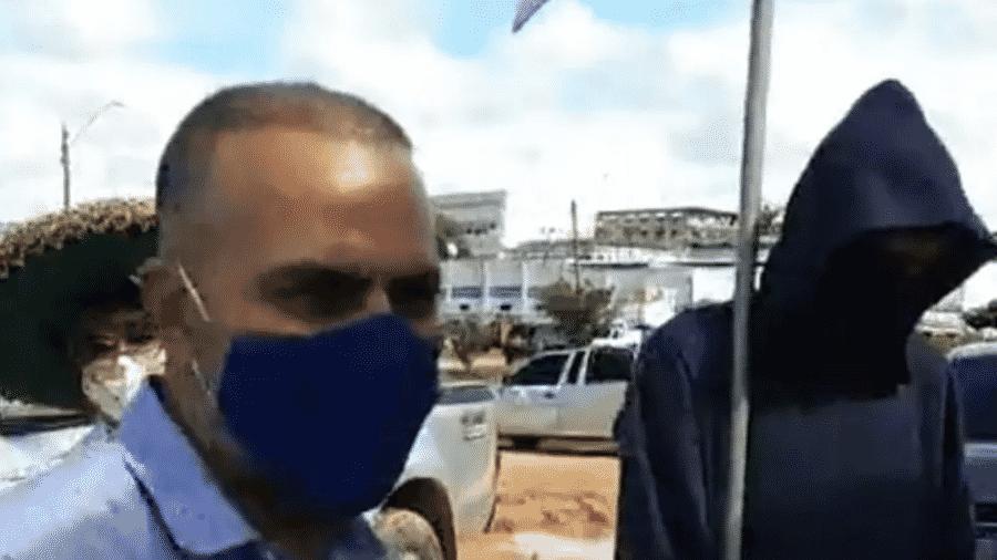 """Prefeito de cidade no interior do Acre leva a """"morte"""" para conscientizar população sobre coronavírus - Reprododução"""