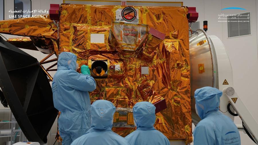 """""""Al Amal"""" (Esperança) deve proporcionar uma imagem completa da dinâmica da temperatura na atmosfera marciana - Divulgação"""