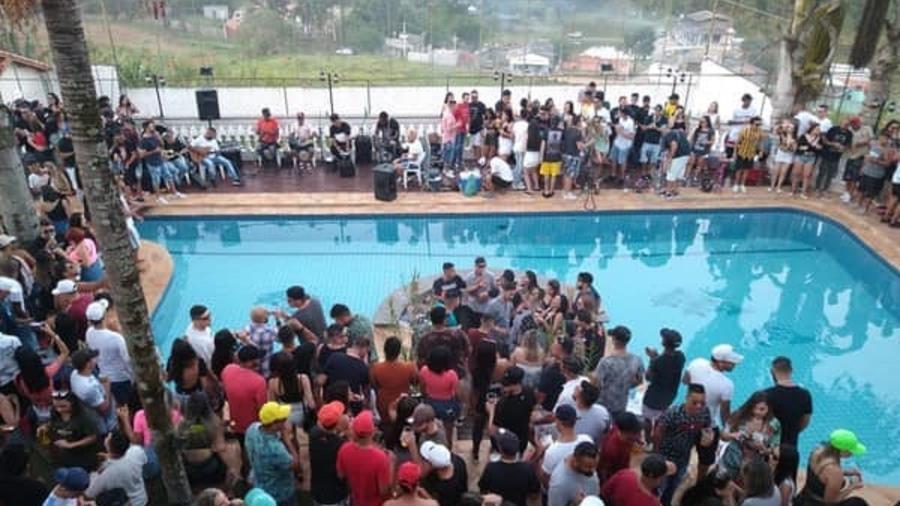 Prefeitura afirma que festa tinha mil pessoas em SP - Arquivo Pessoal