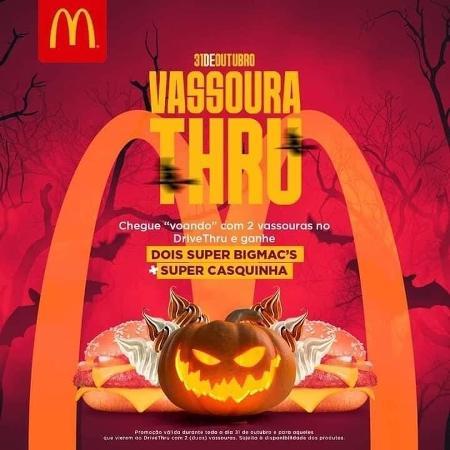 """Promoção falsa de Halloween do McDonald""""s - Reprodução/Twitter"""