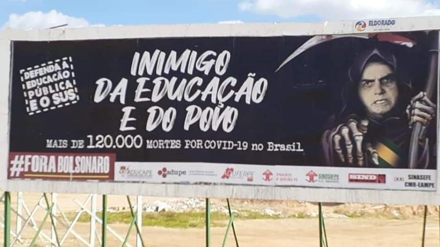 Segundo a professora, a campanha foi financiada por entidades  - Divulgação/Aduferpe