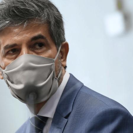 05.mai.2021 - O ex-ministro da Saúde, Nelson Teich, na CPI da Covid - Edilson Rodrigues/Agência Senado