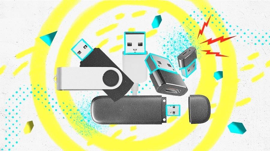Com certeza, você tem algum aparelho com conexão USB, mas de qual tipo? - Arte UOL