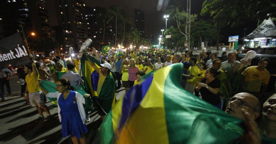 16.mar.2016 - Em Recife (PE) também houve protesto contra a nomeação de Lula (PT) para ministro da Casa Civil