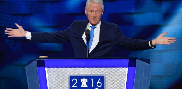 Bill Clinton exaltou a mulher, Hillary, durante seu discurso na Convenção Democrata