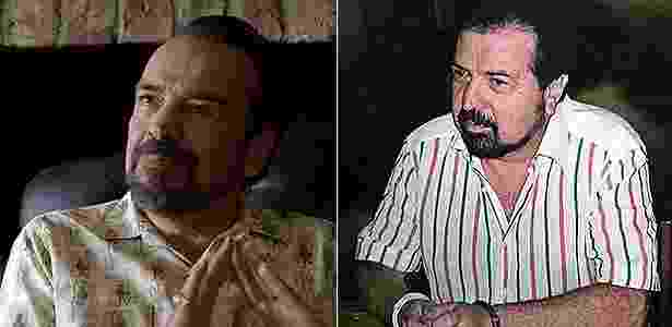 Gilberto (Narcos) - Reprodução/Netflix e AFP/arquivo - Reprodução/Netflix e AFP/arquivo