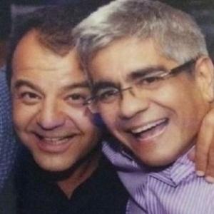 Sérgio Cabral e o amigo Luiz Carlos Bezerra (à dir.)