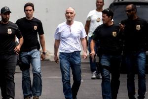 Eike Batista durante chegada à PF, em janeiro
