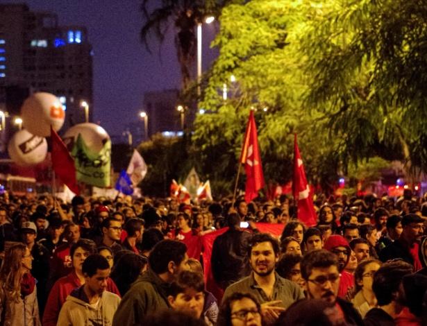 Região do largo da Batata durante a greve geral desta sexta-feira