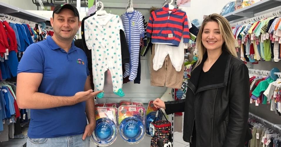 Os irmãos Giovanna Domiciano e Flávio Thenório são donos da rede Arena Baby, que virou franquia em junho de 2017