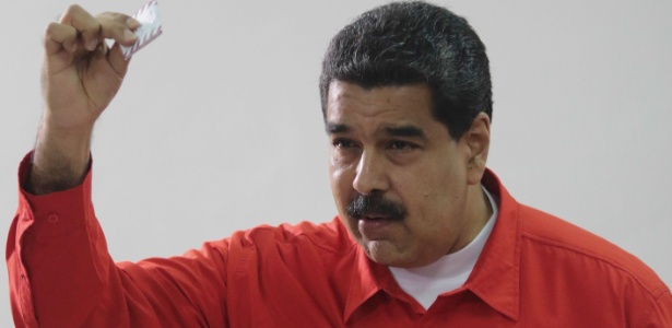 Nicolás Maduro foi o primeiro a votar na Assembleia Constituinte venezuelana - AFP