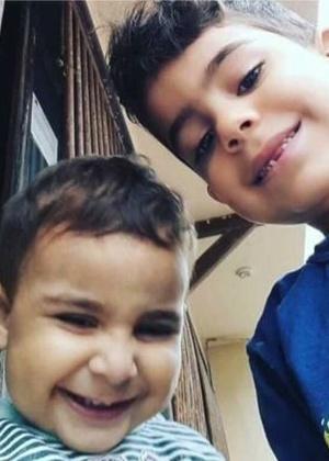 Os meninos Joaquim e Kauã, de três e seis anos, mortos em Linhares (ES)