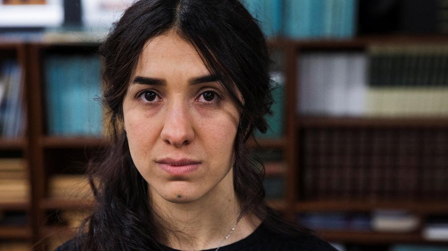 A ativista Nadia Murad é sobrevivente da violência do Estado Islâmico no Iraque - Lucas Jackson/Reuters