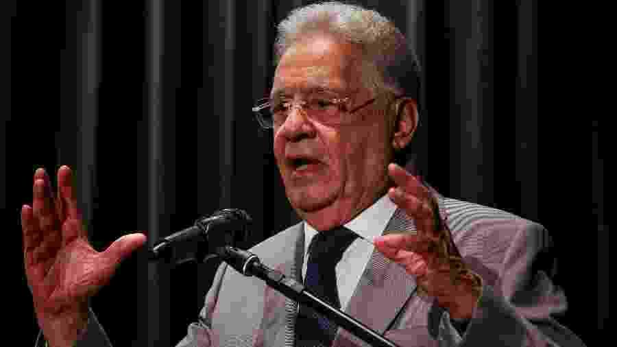 Fernando Henrique Cardoso durante palestra, em 2018 - Felipe Rau/Estadão Conteúdo