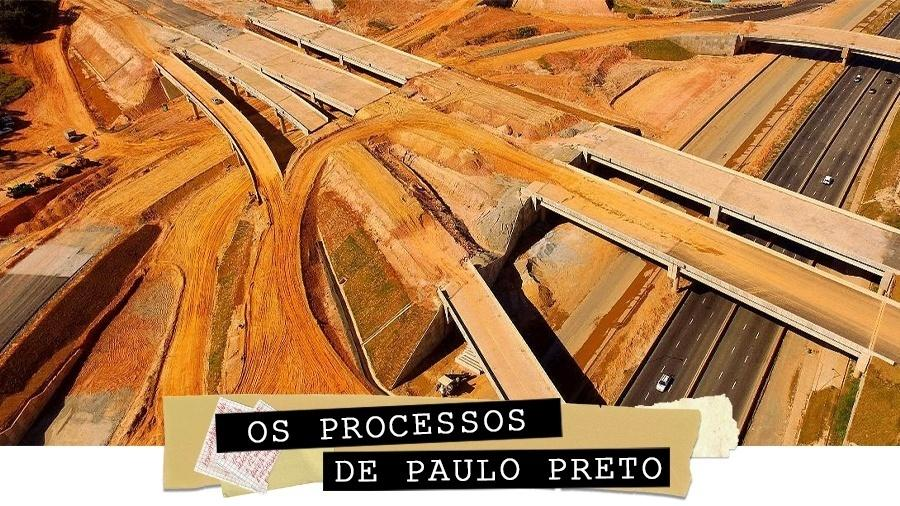 Vista aérea das obras do Rodoanel Norte, às margens da rodovia Fernão Dias (BR-381), na altura do km 92, em Guarulhos, na Grande São Paulo (21.jun.2018) - Luis Moura/WPP/Estadão Conteúdo