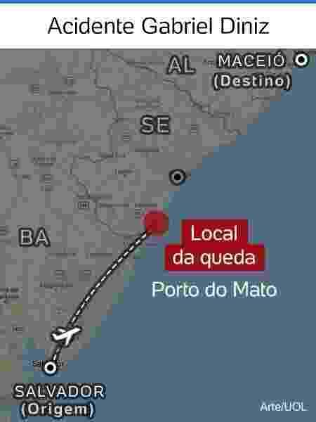 Mapa Gabriel Diniz -  -